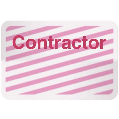 Stock TIMEbadge® - Contractor Adhesive