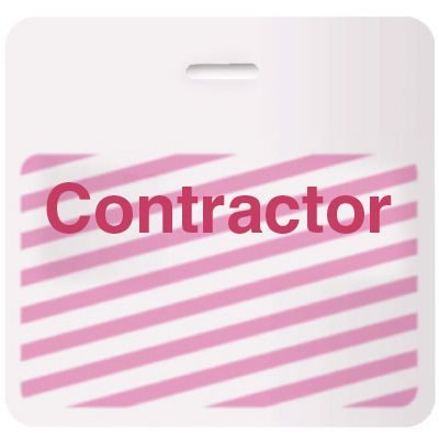 Stock TIMEbadge® - Contractor CARDbadge®