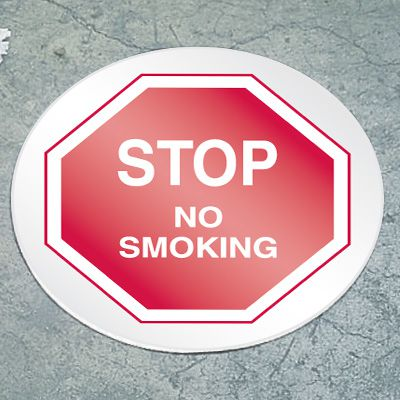 Stop Floor Marker - No Smoking
