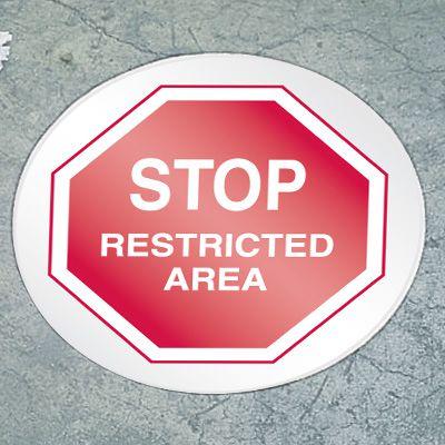 Stop Floor Marker - Restricted Area.