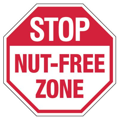 Stop Nut-Free Zone - Food Allergy Signs
