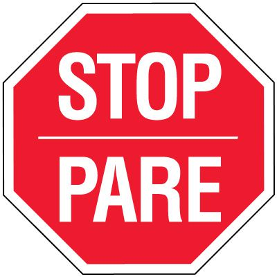Stop Signs - Stop Pare