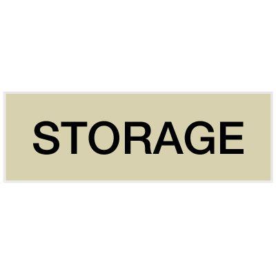 Storage - Engraved Standard Worded Signs