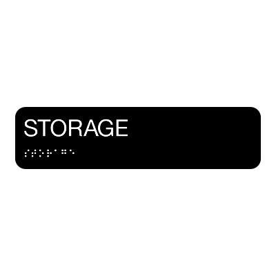 Storage - Standard Worded Braille Signs