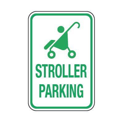 Stroller Parking (Graphic) - Preschool Parking Signs