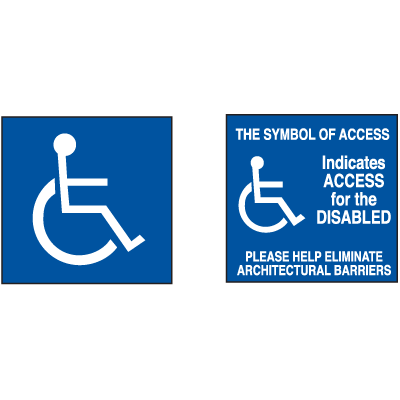 Access For The Disabled Decals