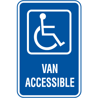 Symbol Of Access Parking Signs - Van Accessible