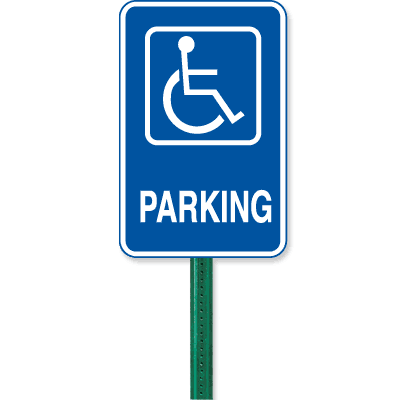 Symbol Of Access Parking Sign Kit - Parking