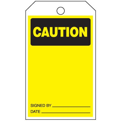 Inspection Tags-On-A-Roll - Caution