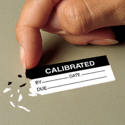 Calibration ID No. By Date Due Tamper Evident Labels