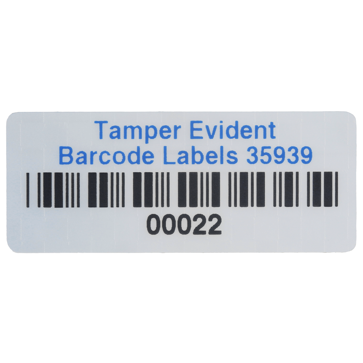 Custom Tamper Evident Asset Labels