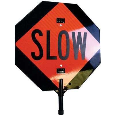 Visual Alert™ Handheld LED STOP/SLOW Signs
