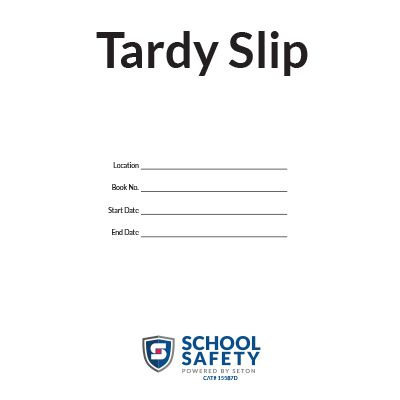 Tardy Slip Book