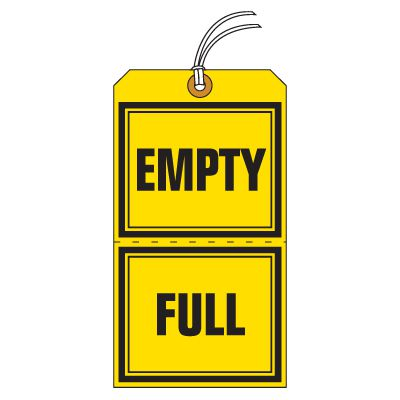 Tear-Off Jumbo Empty Full Status Tags