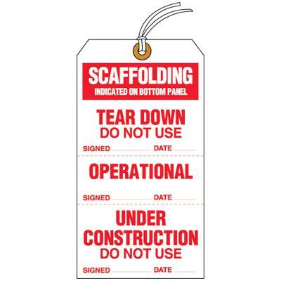 Scaffolding Status Tear-Off Tags