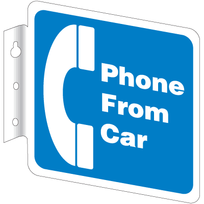 Telephone & ATM Signs - Phone From Car