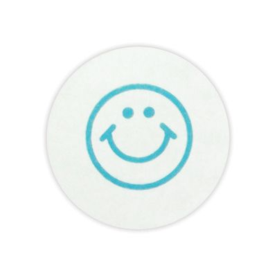 TempBadge Self-Expiring Timing Circle, Smiley Face