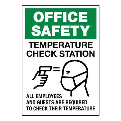 Temperature Check Station Label