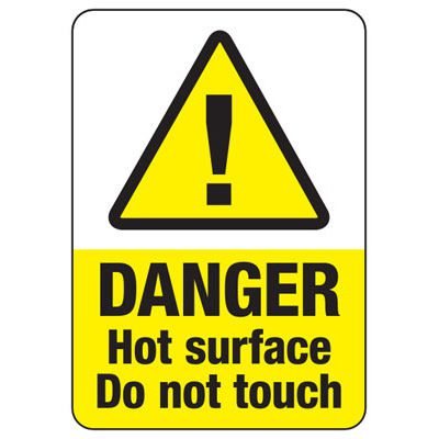 Temperature Warning Signs - Danger Hot Surface Do Not Touch