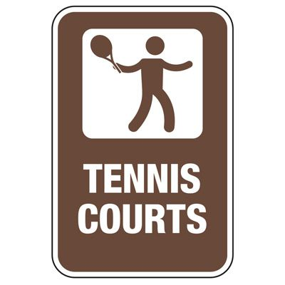 Tennis Courts - Athletic Facilities Signs