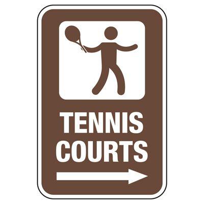 Tennis Courts (Right Arrow) - Athletic Facilities Signs