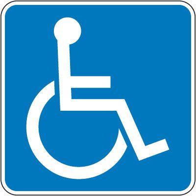 Texas State Handicap Signs - (Handicap Symbol)