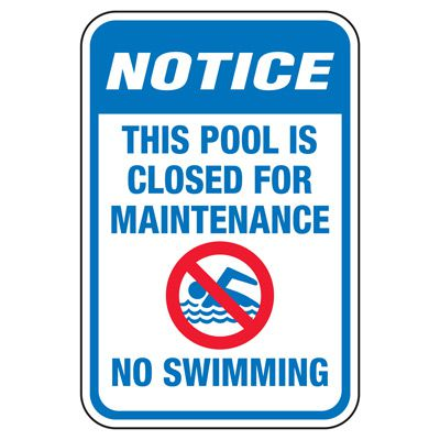 a976c17ca0f This Pool Closed For Maintenance - Pool Signs | Seton | Seton