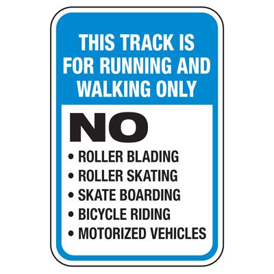 This Track for Running - Athletic Facilities Signs