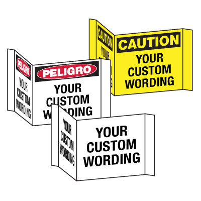Custom Projecting Safety Sign