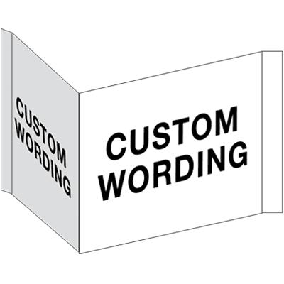 Custom Three-Way View Safety Sign
