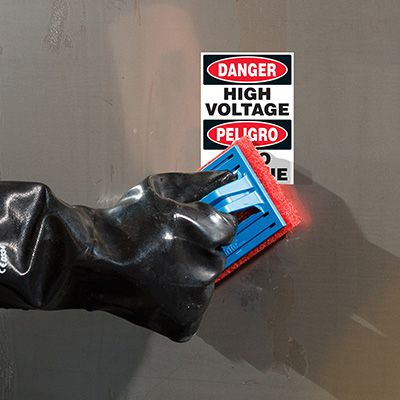 ToughWash® Labels - Danger High Voltage (English/Spanish)