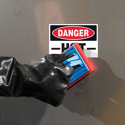 ToughWash® Labels - Danger Hot