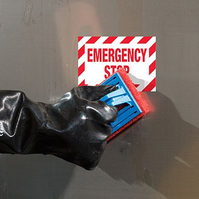 ToughWash® Labels - Emergency Stop