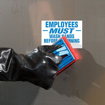 ToughWash® Labels - Employees Must Wash Hands