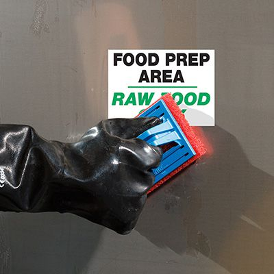 ToughWash® Labels - Raw Food Prep Area