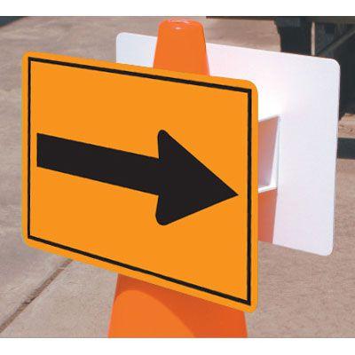 Traffic Cone Signs - Arrows