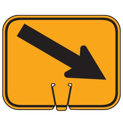 Traffic Cone Signs - Arrow Down Right