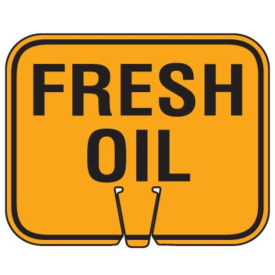 Traffic Cone Signs - Fresh Oil