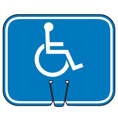 Traffic Cone Signs - Handicap Symbol
