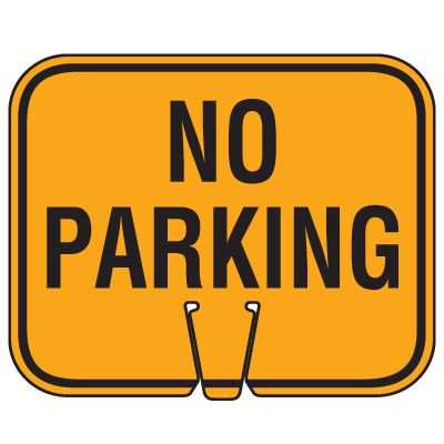Traffic Cone Signs - No Parking