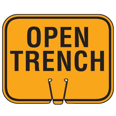 Traffic Cone Signs - Open Trench