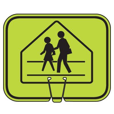 Arrow Sign Traffic Cone Signs - Pedestrian Crossing Symbol V-SCWK-R