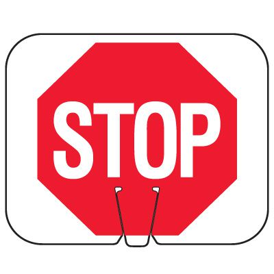Traffic Cone Signs - Stop
