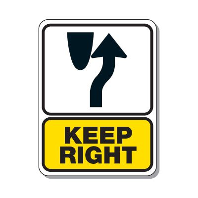 Traffic Pattern Signs - Keep Right Signage