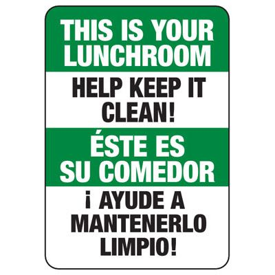 This Is Your Lunchroom - Bilingual Lunchroom Signs