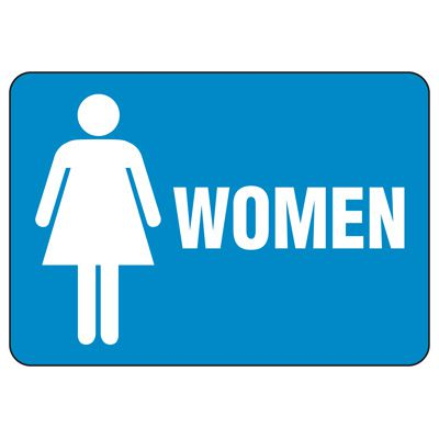 Facility Reminder Signs - Women