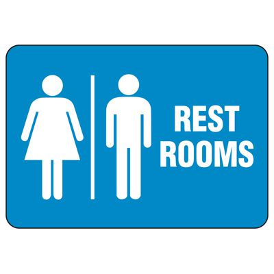Facility Reminder Signs - Rest Rooms