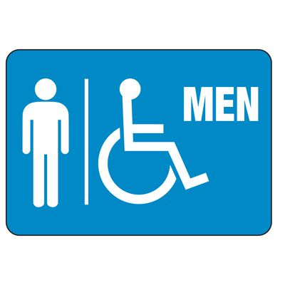 Men's Handicapped Restroom Sign