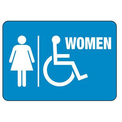Women's Handicapped Restroom Sign