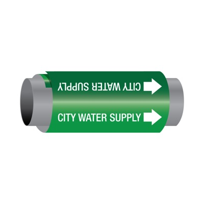 Ultra-Mark® Self-Adhesive High Performance Pipe Markers - City Water Supply
